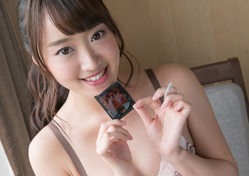 Saki #4 細い指でコンドームオナニー