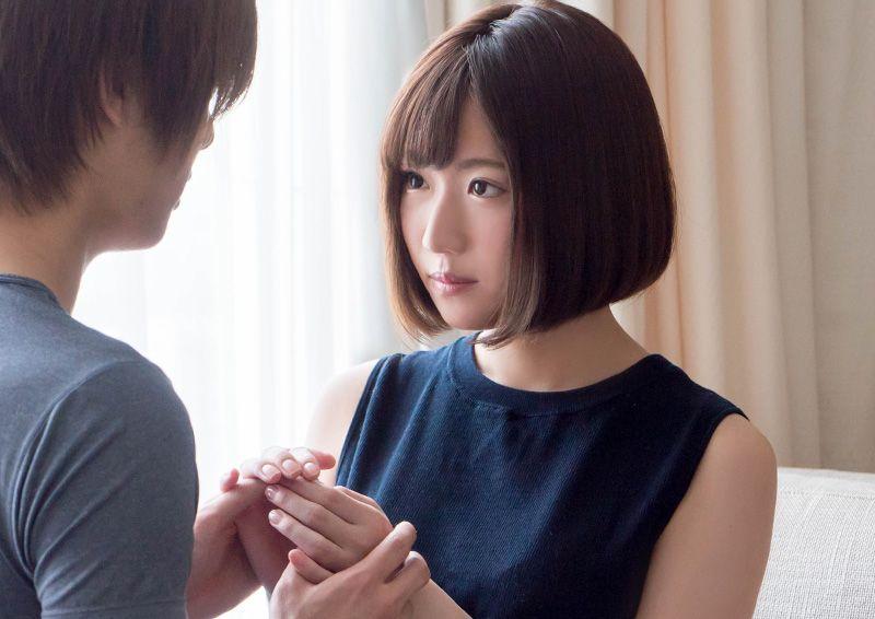 照れ屋なパイパン娘の頬を赤く染めるSEX Mitsuha