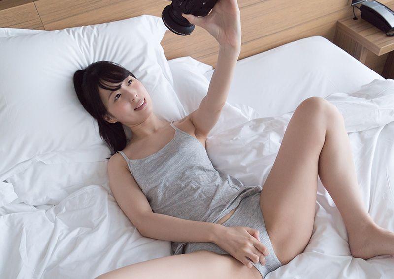 パイパン女子の自撮り膣イキオナニー Sora